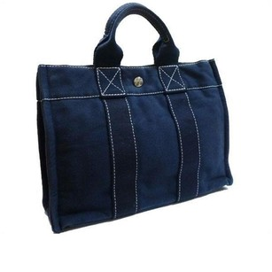 Herms Tote in Navy