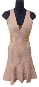 Hervé Leger Holidays &gold Stunner Dress