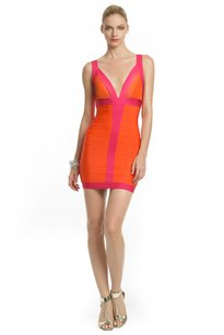 Hervé Leger Orange Bandage Dress