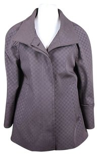Hilary Radley Womens Basic Casual 34 Sleeve Brown Jacket