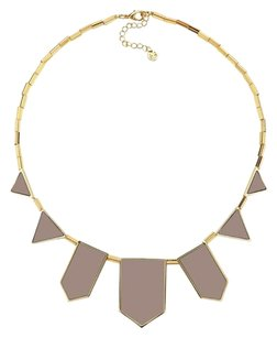 House of Harlow 1960 House of Harlow 1960 Khaki Leather Five Station Necklace