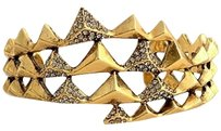 House of Harlow 1960 House of Harlow 1960 Pyramid Wrap Gold Cuff with Pave