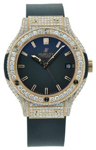Hublot HUBLOT CLASSIC FUSION ROSE GOLD 38MM FULL DIAMOND 6.50CT ICED OUT NEW IN BOX