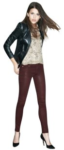Hudson Jeans Hudson Krista Super Skinny Waxed In Red Wine Skinny Jeans