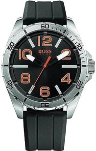Hugo Boss Boss Orange Black Rubber Mens Watch 1512943
