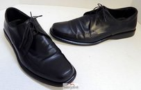 Hugo Boss Itlay Black Leather Oxfords Shoes