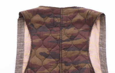 Hugo Boss Plaid Quilted Vest
