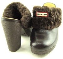 Hunter Bruson Real Fur Brown Platforms