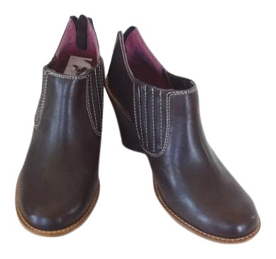 hush puppies brown wedge rubber sole boots booties
