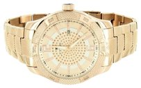 IceTime Stainless Steel Icetime Watch Genuine Diamonds Rose Gold Finish Analog Mens
