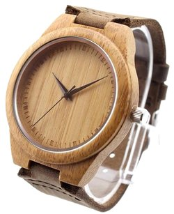 Ideashop® Ideashop(R) New Vosicar Retro Leather Fashion Bamboo Wooden Watch Japan Movement Quartz With Genuine Cowhide Leather Band Casual Watches Creative Gifts For Men