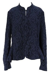 INC International Concepts Floral Womens Cotton Blend blue Jacket