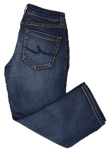 INC International Concepts Womens Blue Reg Fit Capri/Cropped Denim