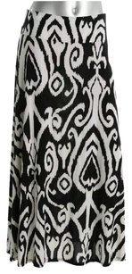 INC International Concepts Maxi Skirt black/ivory