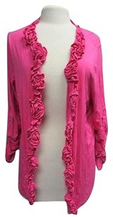 INC International Concepts Woman Long Sleeves Open Front 2x 3186a Top Pink