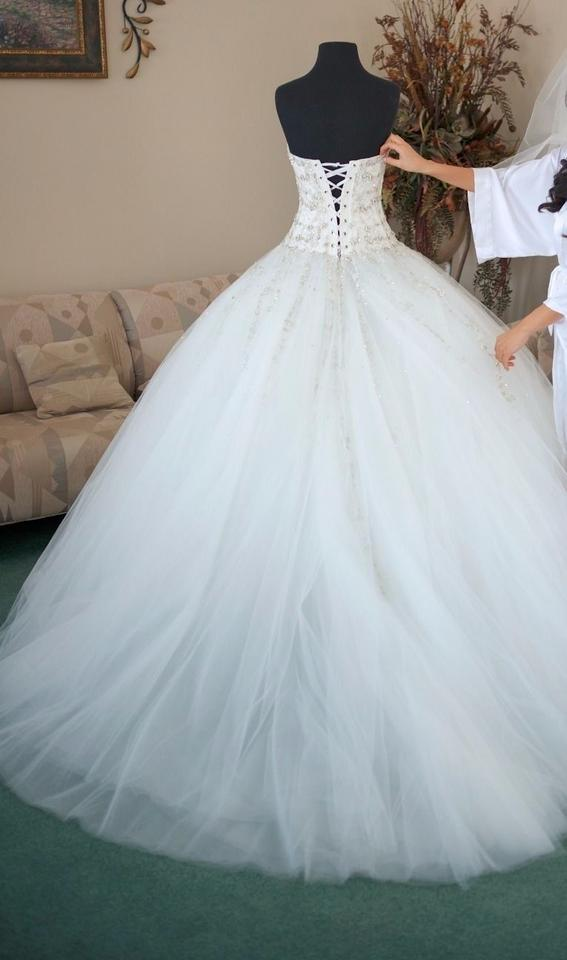 Ines di santo custom made wedding dress on tradesy for Ines di santo wedding dresses prices