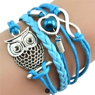 Infinit Owl Bracelet Multilayer Infinity Pearl Wristband