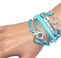 Infinity Believe Infinity Musical Note Wristband