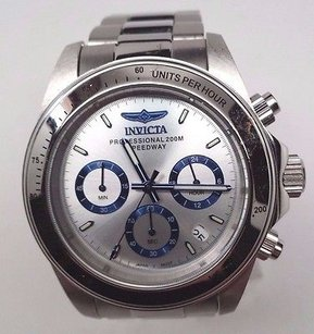 Invicta Invicta 17311 Mens Speedway Silver Dial Chrono Bracelet Watch