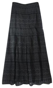 Isabel Marant 36 Black Embroidered Fr Ccx Skirt