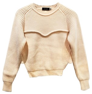 Isabel Marant Crew Neck Cropped Chunky Sweater