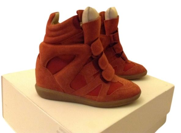 Isabel Marant Red Burt Sneakers Wedges Size US 5