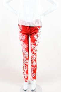 Isabel Marant Red White Denim Skinny Jeans