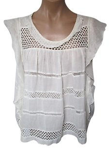 Isabel Marant White Etoile Voile Top Off White