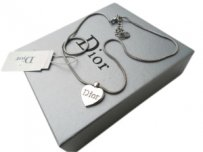 Christian Dior CHRISTIAN DIOR SILVER HEART NECKLACE