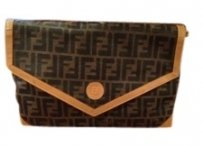 Fendi Black and tan Clutch