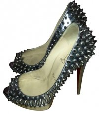 Christian Louboutin silver metalic Pumps