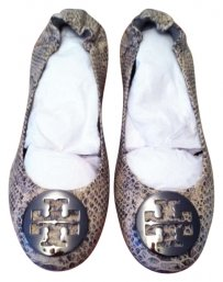 TORY BURCH SNAKE EMBOSSED Flats