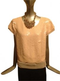 BCBG Max Azria Top Light Pink