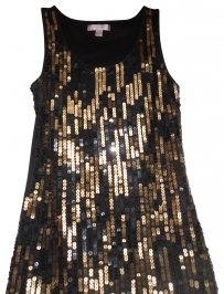 Romeo & Juliet Couture Top Black with brown sequin