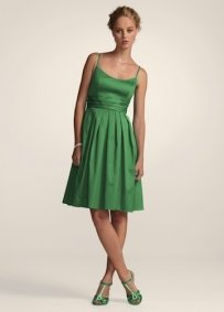David's Bridal Green F14138 Dress