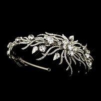 Elegance By Carbonneau Couture Side Accent Wedding Headband