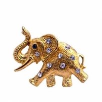 Artistically Gold Elephant Trunk Brooch