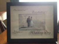Wedding Picture Frame- Black And White