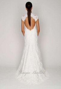 Monique Lhuillier Back Detail Lace Romantic Wedding Dress