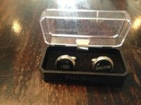 I Do And Groom Cuff Links - Silver