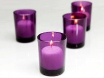 72 Purple Votive Holders & 72 Candles