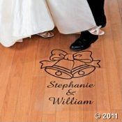 Personalized Wedding Bells Floor Cling