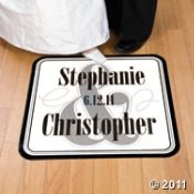 Personalized Wedding Floor Cling -
