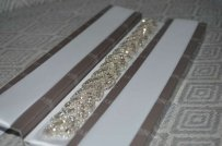 Crystal Beaded Rhinestone Wedding Sash