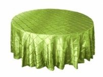 11 Green Pintuck Round Tablecloths