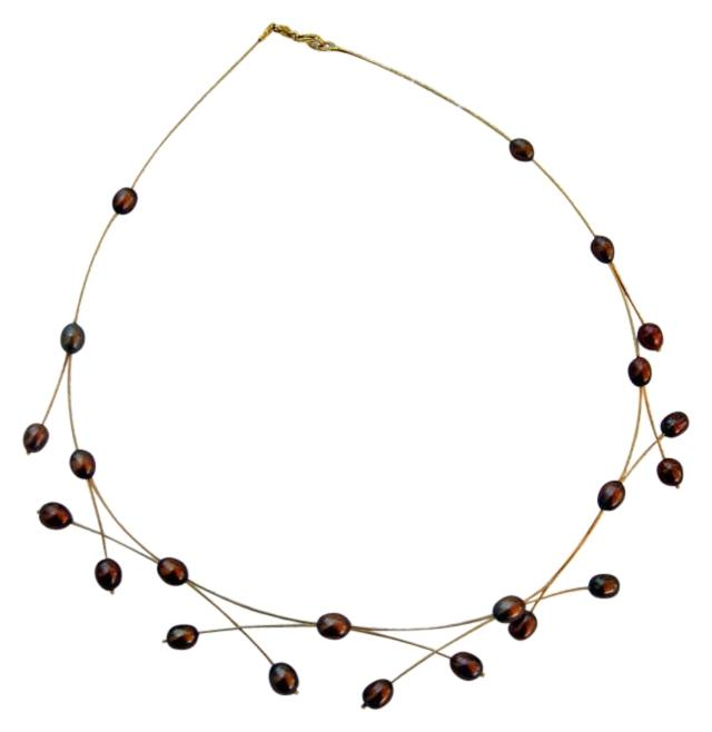 Adi Paz 14k Gold And Chocolate Freshwater Pearls Necklace