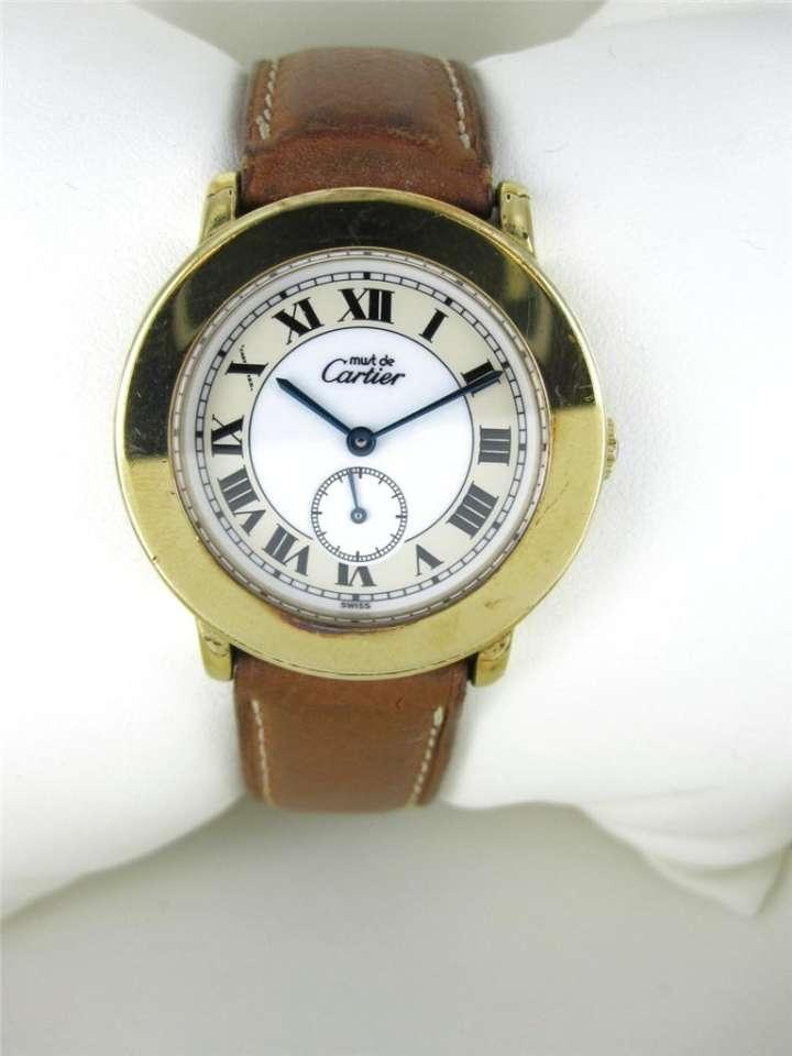 Cartier Ladies Must De 18kt Plated 925 Sterling Silver ...