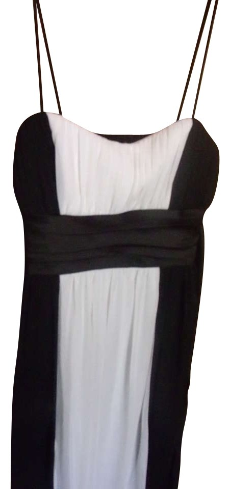City Triangles Night Out Dress Black And White Knee Length