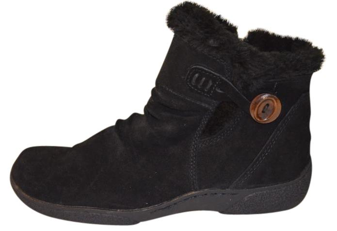 bare traps suede ankle boot black boots