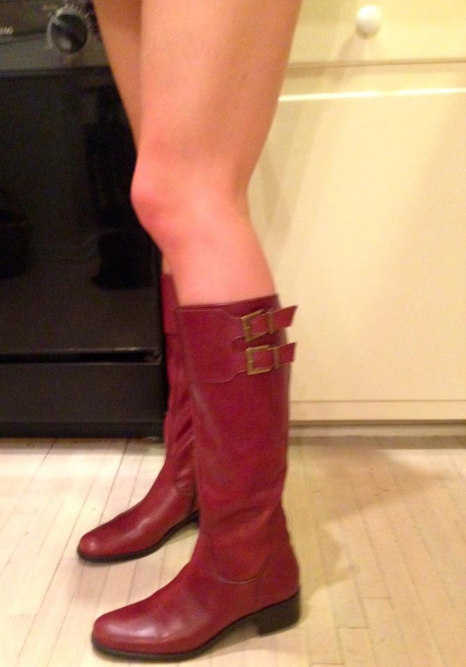 reddish brown italian boots boots size 7 72 boots